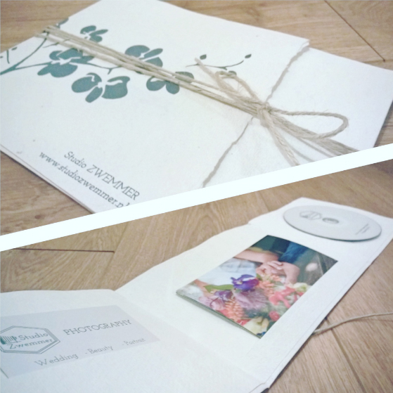 packaging examples from a photo shoot